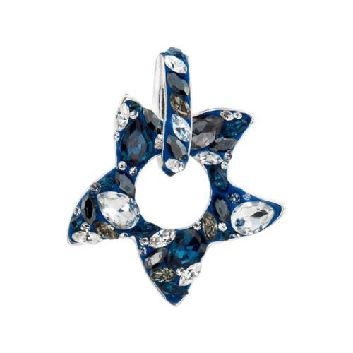 Сребърен медальон с кристали от Swarovski® SM260 Royal