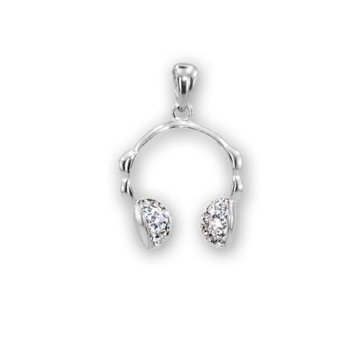 Сребърен медальон с кристали от Swarovski® SM263