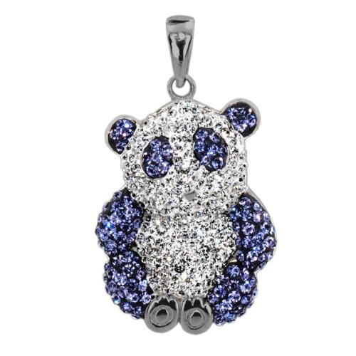 Сребърен медальон с кристали от Swarovski® SM264