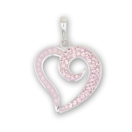 Сребърен медальон с кристали от Swarovski® SM268 Rose Water Opal and Vintage Rose