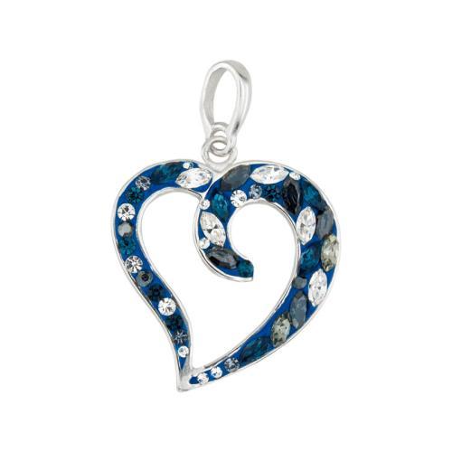 Сребърен Медальон С Кристали От Swarovski® SM268 Royal