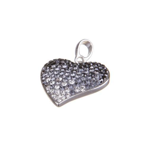 Сребърен медальон с кристали от Swarovski® SM269