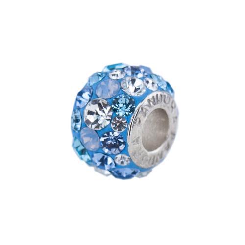 Сребърен Медальон С Кристали От Swarovski® SM271 Deep Blue