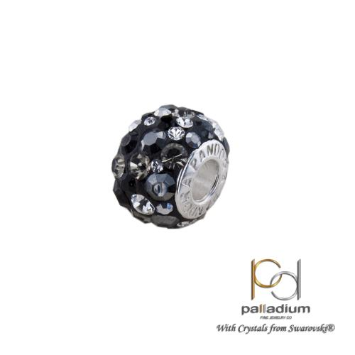 Сребърен медальон с кристали от Swarovski® SM271 Late Night