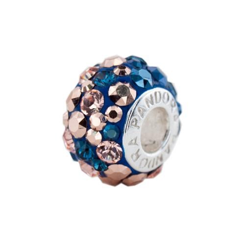 Сребърен медальон с кристали от Swarovski® SM271 Metallic Rose Gold