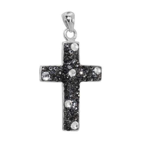 Сребърен медальон с кристали от Swarovski® SM272