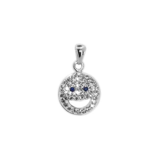 Сребърен медальон с кристали от Swarovski® SM275 Crystal