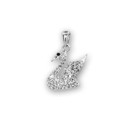 Сребърен медальон с кристали от Swarovski® SM278