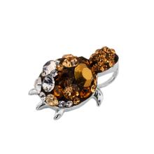 Сребърен медальон с кристали от Swarovski® SM279 Black with white rings