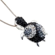 Сребърен медальон с кристали от Swarovski® SM279 Monte Carlo