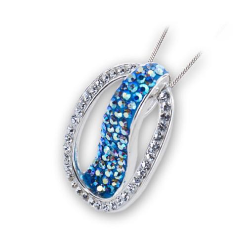 Сребърен медальон с кристали от Swarovski® SM286