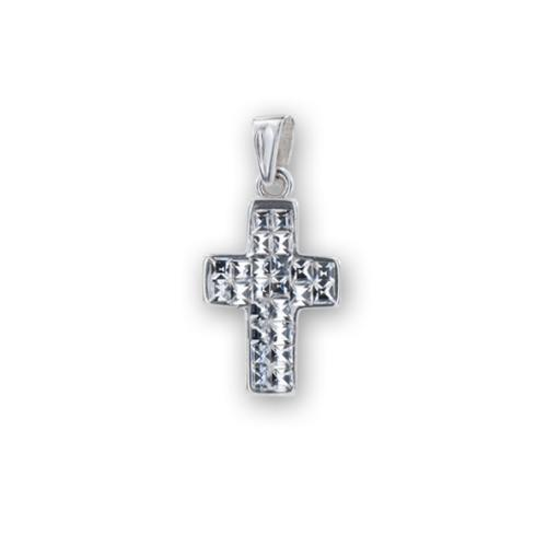 Сребърен медальон с кристали от Swarovski® SM287 Crystal Квадрати