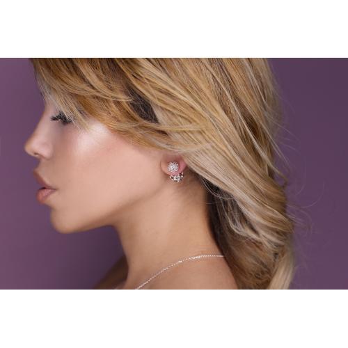 Сребърни обеци с кристали от Swarovski® SO329 Peach Gold