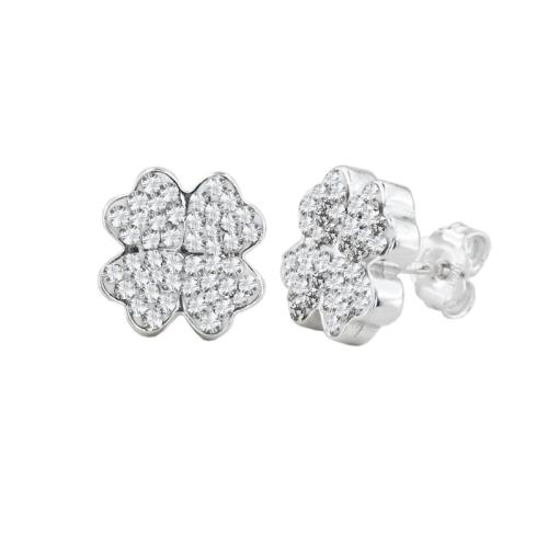 Сребърни обеци с кристали от Swarovski® SO378 Crystal