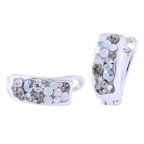 Сребърни обеци с кристали от Swarovski® SO307 Silver Shade