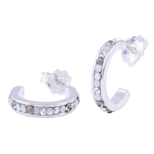 Сребърни обеци с кристали от Swarovski® SO317 Silver Shade