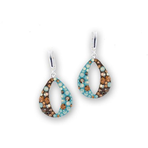 Сребърни обеци с кристали от Swarovski® SO333