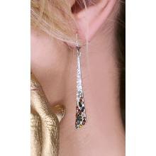 Сребърни обеци с кристали от Swarovski® SO339 Colorful Drops