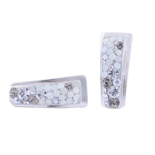 Сребърни обеци с кристали от Swarovski® SO363 Silver Shade