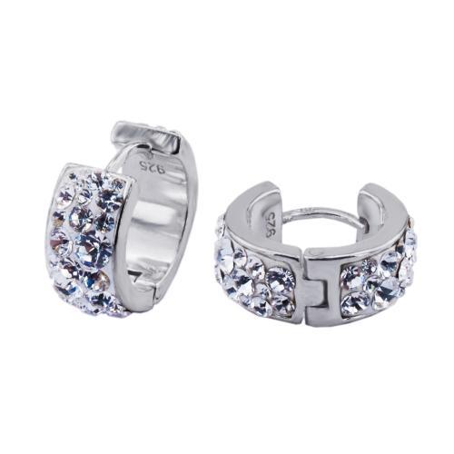 Сребърни обеци с кристали от Swarovski® SO373 Crystal