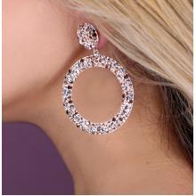 Сребърни обеци с кристали от Swarovski® SO377 Peach Gold