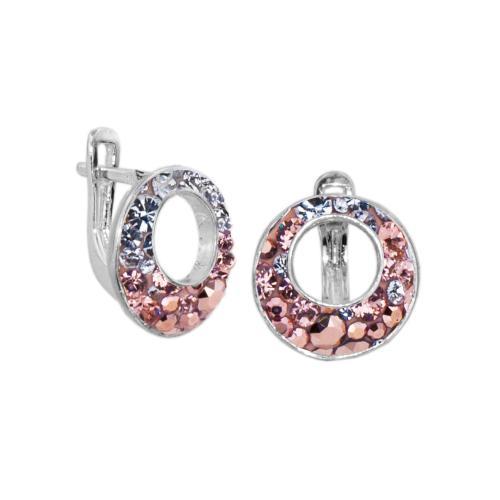 Сребърни обеци с кристали от Swarovski® SO353
