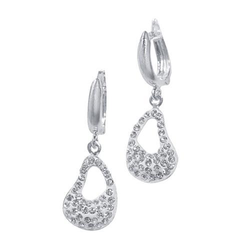 Сребърни обеци с кристали от Swarovski® SO300