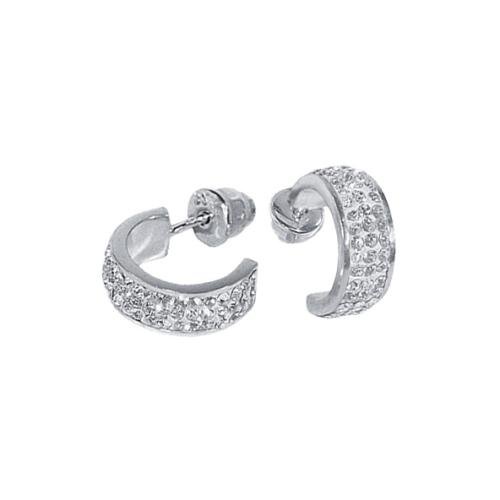 Сребърни обеци с кристали от Swarovski® SO301