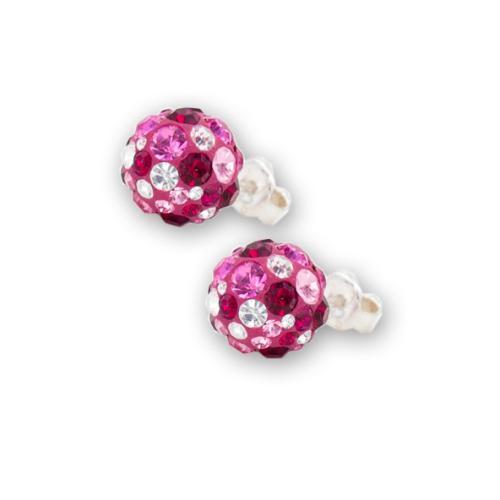 Сребърни обеци с кристали от Swarovski® SO302 Bold Rose