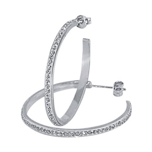 Сребърни обеци с кристали от Swarovski® SO309