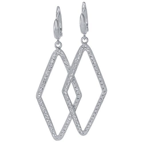 Сребърни обеци с кристали от Swarovski® SO311