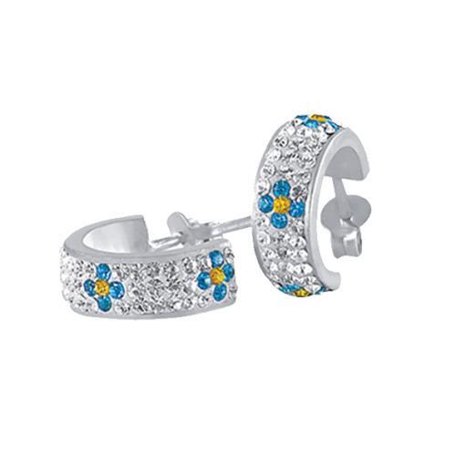 Сребърни обеци с кристали от Swarovski® SO312