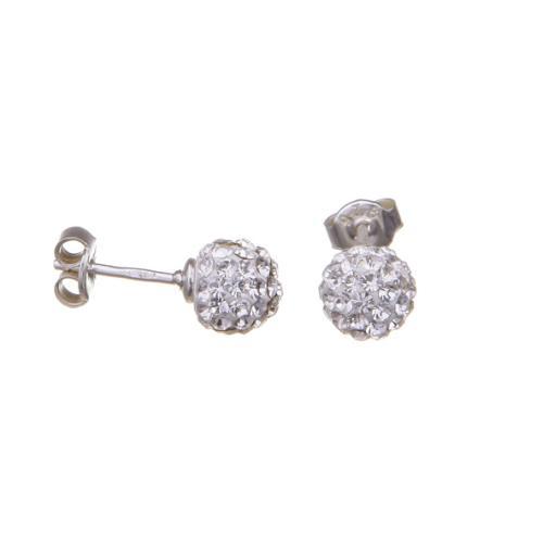 Сребърни обеци с кристали от Swarovski® SO313 Crystal