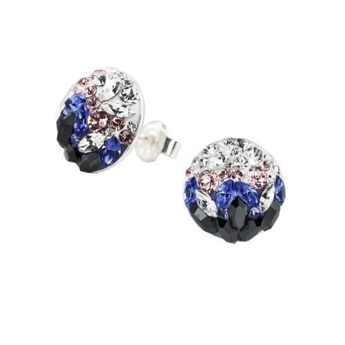 Сребърни обеци с кристали от Swarovski® SO314 Corsette