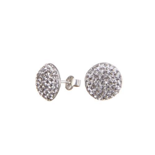 Сребърни обеци с кристали от Swarovski® SO314 Crystal
