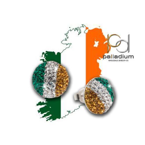 Сребърни обеци с кристали от Swarovski® SO314 Ireland