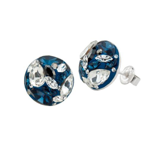 Сребърни обеци с кристали от Swarovski® SO314 Royal