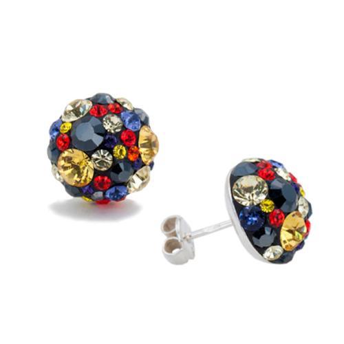 Сребърни обеци с кристали от Swarovski® SO314 Vivid Spring