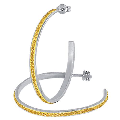 Сребърни обеци с кристали от Swarovski® SO316