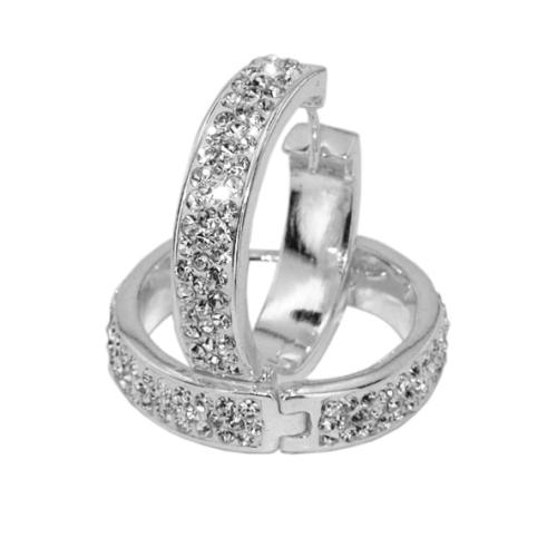 Сребърни обеци с кристали от Swarovski® SO318 Crystal
