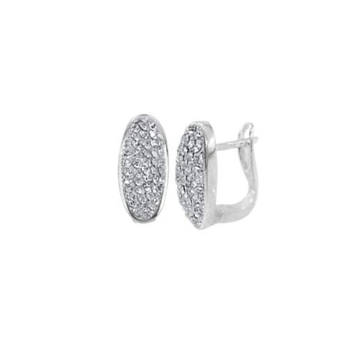 Сребърни обеци с кристали от Swarovski® SO321