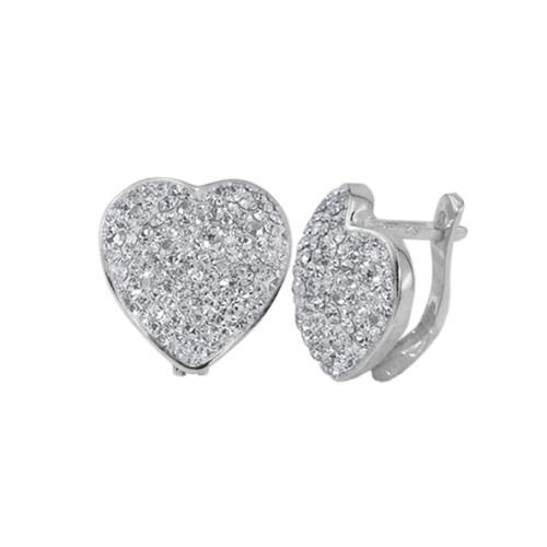 Сребърни обеци с кристали от Swarovski® SO323 бели кристали