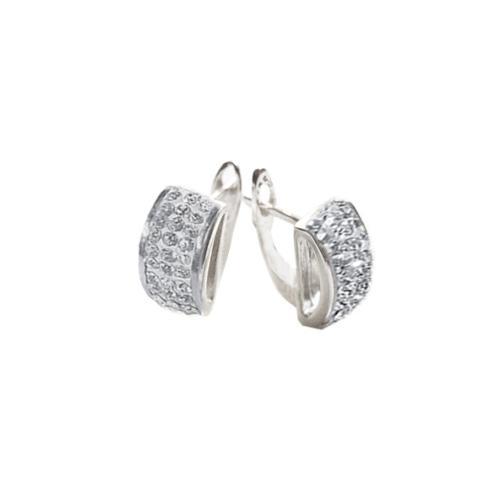 Сребърни обеци с кристали от Swarovski® SO326 Crystal