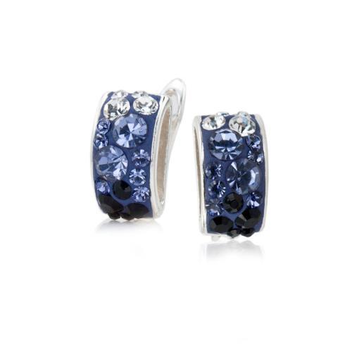 Сребърни обеци с кристали от Swarovski® SO326 Crystal, Tanzanite, Hematite