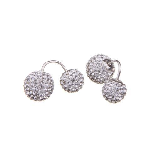 Сребърни обеци с кристали от Swarovski® SO329 Crystal