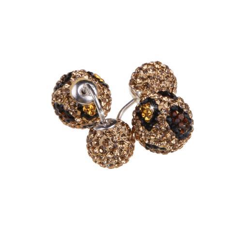 Сребърни обеци с кристали от Swarovski® SO329 Leopard