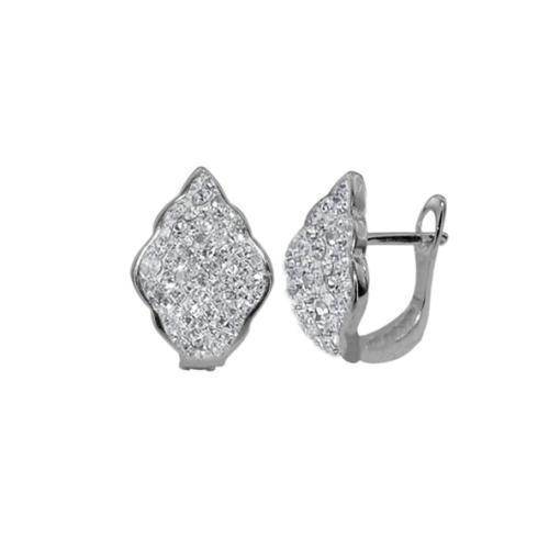 Сребърни обеци с кристали от Swarovski® SO330