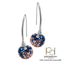 Сребърни обеци с кристали от Swarovski® SO331 Blush Rose