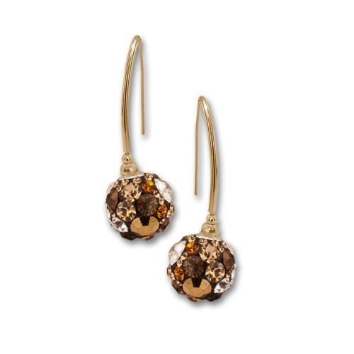 Сребърни обеци с кристали от Swarovski® SO331 Monte Carlo