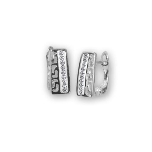 Сребърни обеци с кристали от Swarovski® SO335
